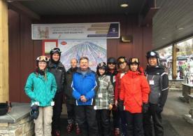 Members of the lab on ski trip