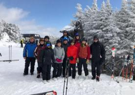 The group at the top of the mountain